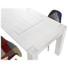 Tavolo Moderno Abete Bianco Spazzolato 160x90 All.