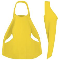 EDGE, Training fins, Giallo, L, Silicone, Giallo, Silicone