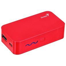 Power Bank da 5200 mAh 2 x USB / Micro-USB Colore Rosso