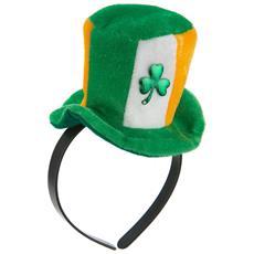 Cerchietto Con Mini Cappello Irlandese Per Adulti Taglia Unica