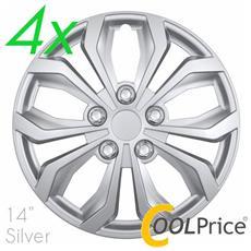 Copricerchi Auto Universali 14 Pollici C-138 Silver 31251