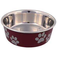 Ciotola In Acciaio Con Rivestimento In Plastica Per Cani (0.45 L) (assortiti)