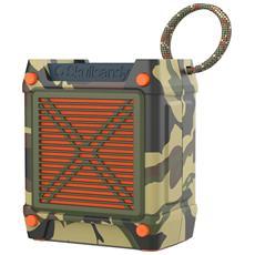 Sistema Audio Portatile Shrapnel Bluetooth + Microfono Ingresso Jack Stereo colore Mimetico