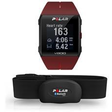 Sportwatch V800 Bluetooth e GPS per Attività Fisica e Resistente all'acqua 3ATM Rosso - Europa