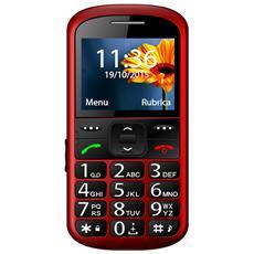 """K100 Kn Senior Phone Display 2.2"""" con Tasti Grandi Fotocamera Colore Rosso"""