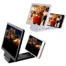 Cornice Lente D'ingrandimento 7,5 Pollici 3d Per Smartphone Zoom 3x - Nero