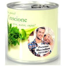 Bomboniere Matrimonio Naturali Personalizzate Crescione Fiori In Lattina Macflowers