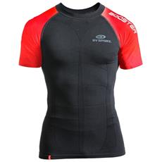 T-shirt Uomo Compression L Nero Arancio