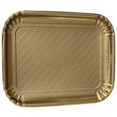 Vassoio Oro Rettangolare 29x39 Cm In Carta 1 Pz