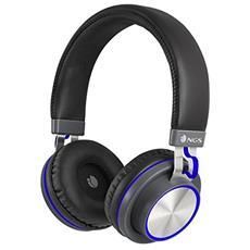 Artica Patrol Blue Padiglione auricolare Stereofonico Cablato Nero, Blu auricolare per telefono cellulare
