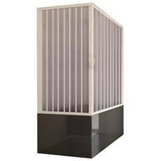 Cabina 70x150 parete vasca a soffietto apertura laterale in pvc h150