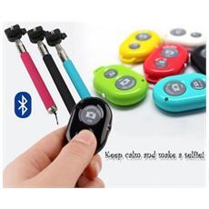 Kit Per Selfie Con Asta Regolabile E Telecomando Bluetooth A Portachiavi Remote Shutter Per Autoscatti Foto