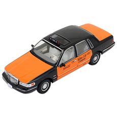 Prd363 Lincoln Town Car 1996 Usa Taxi Orange / black 1:43 Modellino