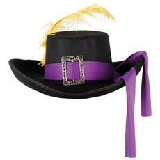 Cappello Moschettiere Colore Nero / Viola