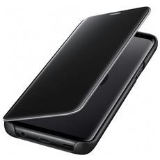 Flip Cover Custodia Clear View per Galaxy S9 colore Nero