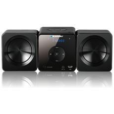 MS5BK, Micro set, Nero, 1-via, 30W, FM, PLL, LED