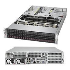 2028U-TR4T+, Intel C612, Socket R (LGA 2011) , Intel, 2U, Aspeed AST2400, Xeon