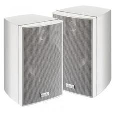 Coppia di Diffusori Acustici Bass Reflex Nano 2 a 2 vie 2x60 Watt Colore Bianco + Staffa da Parete