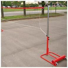 Mf5304 impianto beach volley minivolley pallavolo trasportabile ruote regolabile