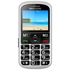 "K100 Kn Senior Phone Display 2.2"" con Tasti Grandi Fotocamera Colore Bianco"