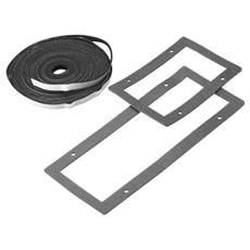 Kit Guarnizioni per Porte e Piastre Passacavi Grigio Metallo 60 cm GW45531