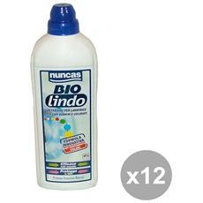 Set 12 Lavatrice Liquido 1 Lt. Lindo Antitrasferimento Bianchi-colorato Detergenti Casa
