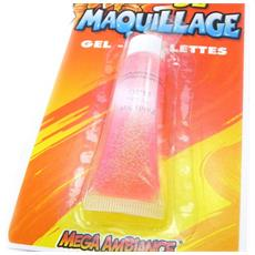 tubo 'maquillage festif' rosa paillettes - [ i6955]