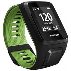 Sportwatch Runner 3 GPS Ipermeabile Cardiofrequenzimetro con Bluetooth Colore Nero / Verde