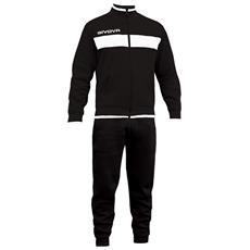 Tuta Drops Givova Completo Di Giacca Con Zip Manica Lunga E Pantalone Colore Nero / bianco Taglia 3xl