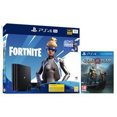 SONY - Console PS4 Pro 1TB Gamma + Fortnite VCH + God of War Limited Bundle