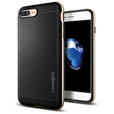 Cover in Policarbonato e TPU per iPhone 7 Plus Colore Nero e Oro
