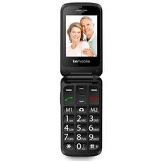 "K200 Flip Senior Phone Display 2.4"" con Tasti Grandi + SOS Fotocamera Colore Rosso"