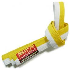 Cintura Arti Marziali Bicolore 3 Bianco Giallo