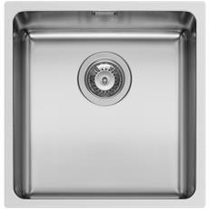 Lavello MONFN100 Filotop o Sopratop 1 Vasca Raggio interno 25 mm spess 1 mm 43x43cm misura esterna vasca colore Acciaio Inox serie Mono
