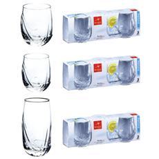 Confezione 3 Pezzi Bicchiere per Acqua - Linea Rolly