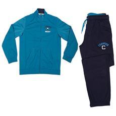 Tuta Bambino Triacetato Tracksuit Full Zip Azzurro Blu Xxs