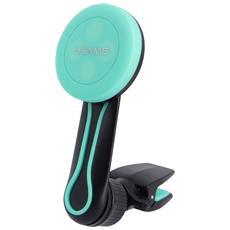 Supporto Auto Magnetico 360° Usams Griglia Ventilazione Smartphone - Nero / verde