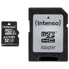 3433480, 32 GB, Micro Secure Digital High-Capacity (MicroSDHC) , 90 MB / s, Nero, 1,5 cm, 1,1 cm