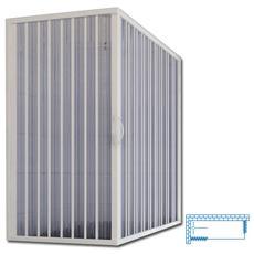 Box vasca a soffietto in PVC apertura centrale 70x140 x150 H
