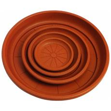 Sottovaso tondo per vasi con diametro bocca Ø 25 cm Altezza: 2,5 cm