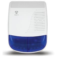 +Alarm A750 Sirena Esterna Wireless Colore Bianco / Blu