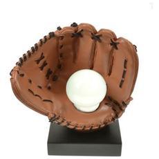 Lampada da tavolo ''Baseball'' in resina decorata a mano Dimensioni cm 22x14x25 Colore beige opaco