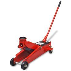 Sollevatore Idraulico Martinetto Da Pavimento 3 Tonnellate Rosso
