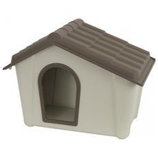 Cuccia Per Cani In Resina Beige / tortora 57x39x42h