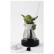 Yoda Figura in Plastica con Spada Laser