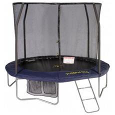 Jpdx10 trampolino tappeto elastico rete salti jumpod deluxe 300
