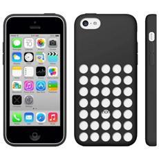 Custodia Cover Silicone Con Fori Per Iphone 5c Nero