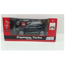 Porsche - Porsche Cayenne Turbo - Radiotelecomandata - Scala 1:24 - Nera
