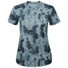 Hexoflage Maglietta A Maniche Corte Donna (m) (argentato)