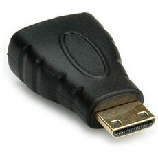 Adapter, HDMI F - HDMI Mini M, Nero